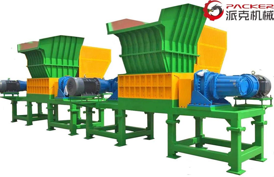 Low Speed Double Shaft Shredder Overload Automatic Recerse 30kW*2 Motor